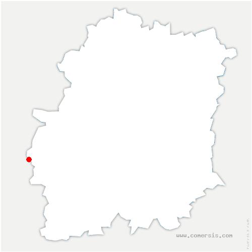 carte de localisation de Chatignonville