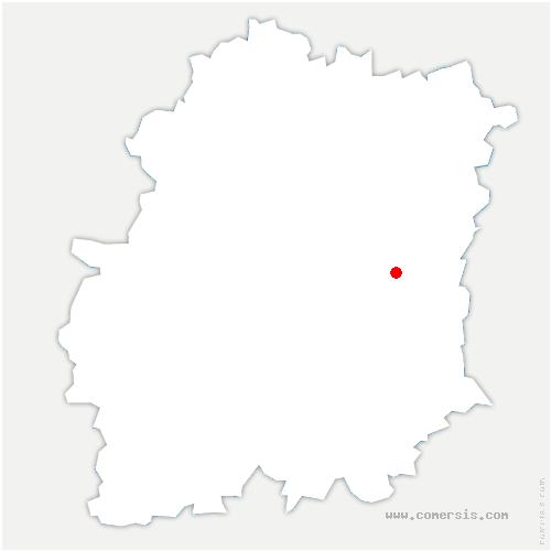 carte de localisation de Chevannes