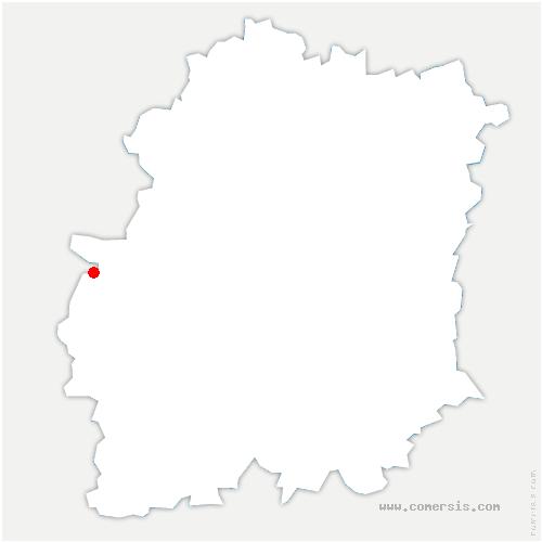 carte de localisation de Corbreuse
