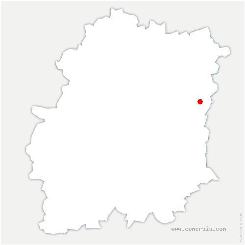 carte de localisation de Coudray-Montceaux