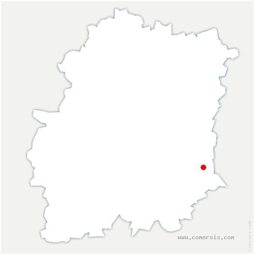 carte de localisation de Courances