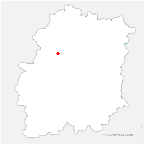 carte de localisation de Courson-Monteloup