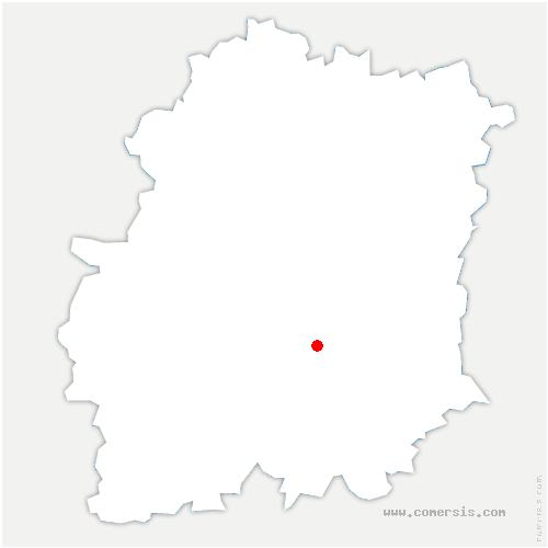 carte de localisation de D'Huison-Longueville