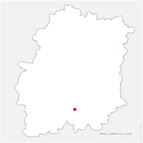carte de localisation de Forêt-Sainte-Croix