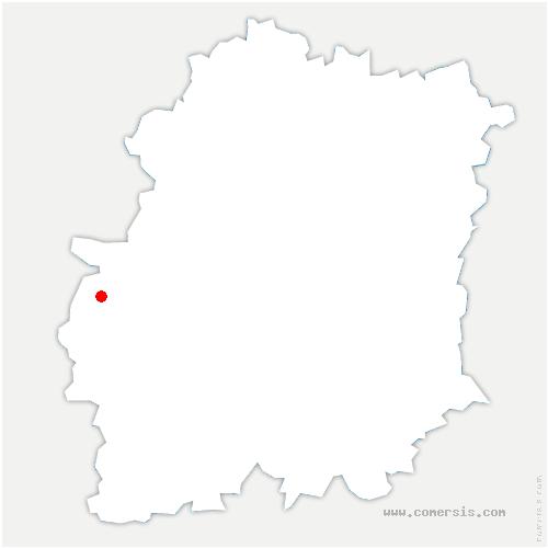 carte de localisation de Granges-le-Roi