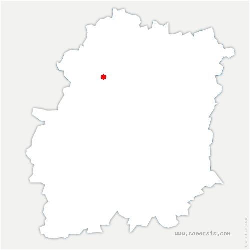 carte de localisation de Janvry