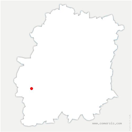carte de localisation de Mérobert