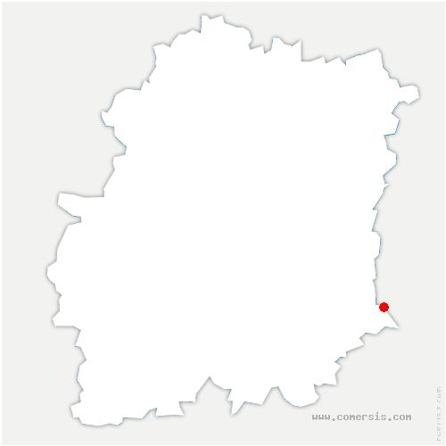 carte de localisation de Milly-la-Forêt
