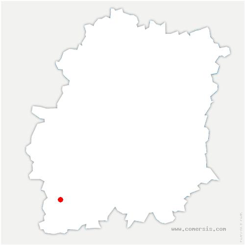 carte de localisation de Monnerville