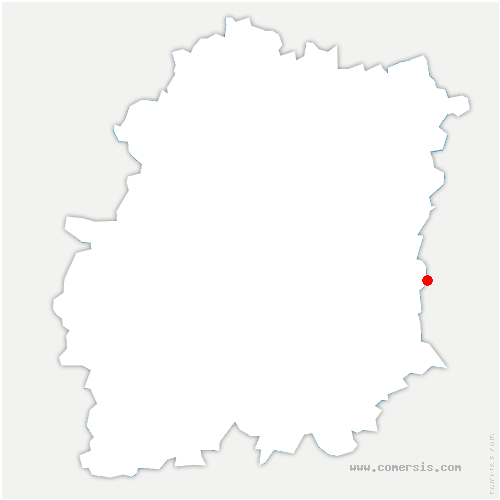 carte de localisation de Nainville-les-Roches