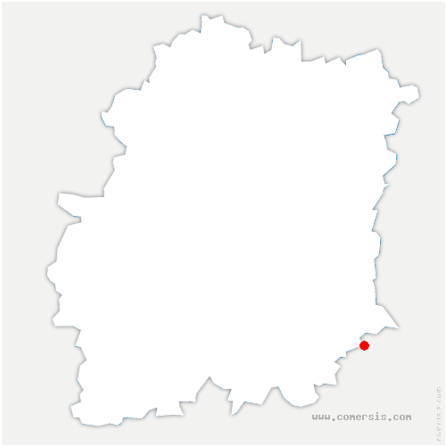 carte de localisation de Oncy-sur-École