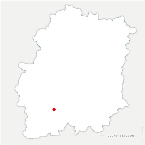 carte de localisation de Ormoy-la-Rivière