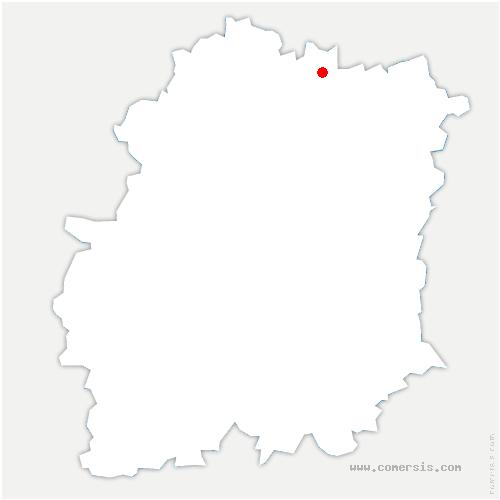carte de localisation de Paray-Vieille-Poste