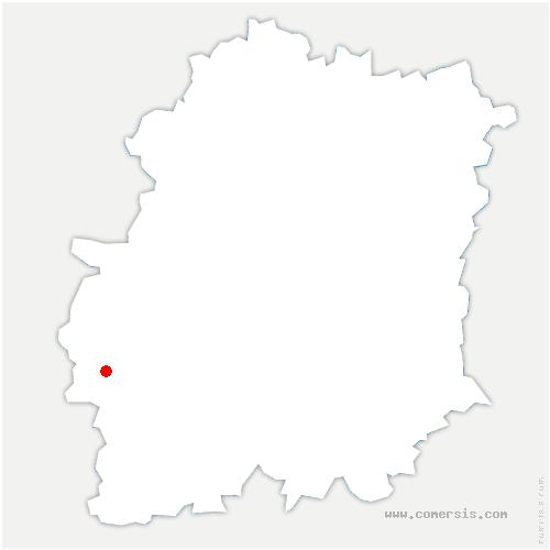 carte de localisation de Plessis-Saint-Benoist