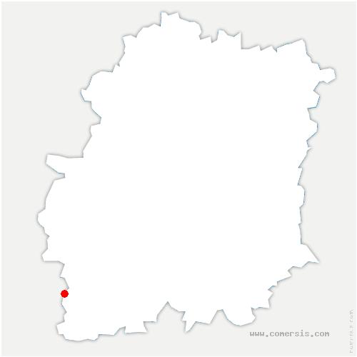 carte de localisation de Pussay
