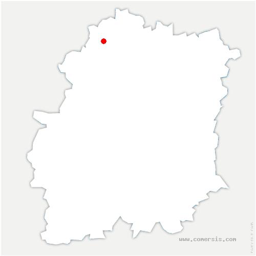 carte de localisation de Saint-Aubin