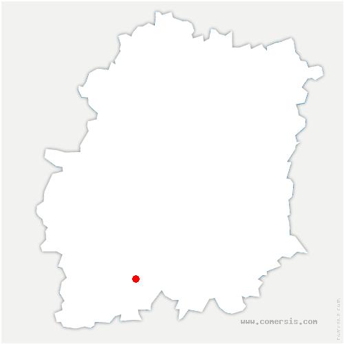 carte de localisation de Saint-Cyr-la-Rivière