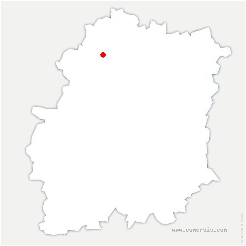 carte de localisation de Saint-Jean-de-Beauregard