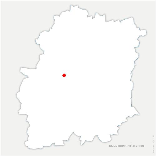 carte de localisation de Saint-Sulpice-de-Favières