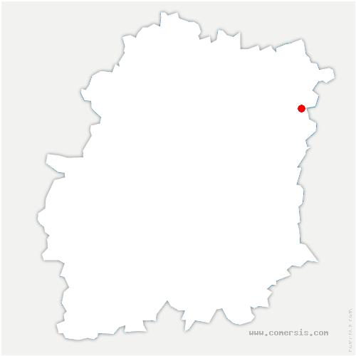 carte de localisation de Tigery