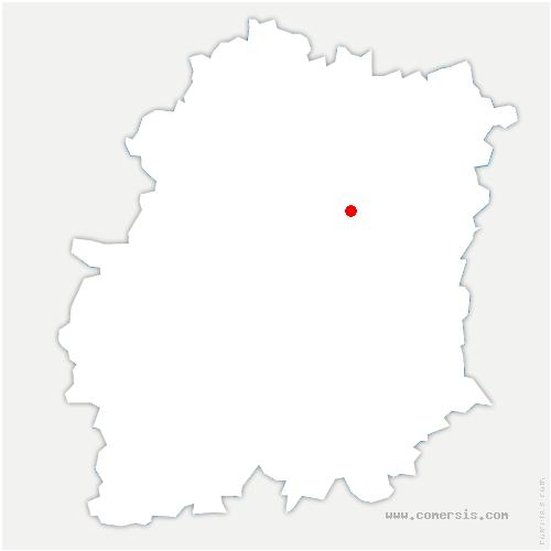 carte de localisation de Vert-le-Grand