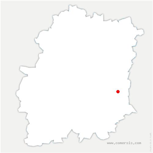 carte de localisation de Videlles