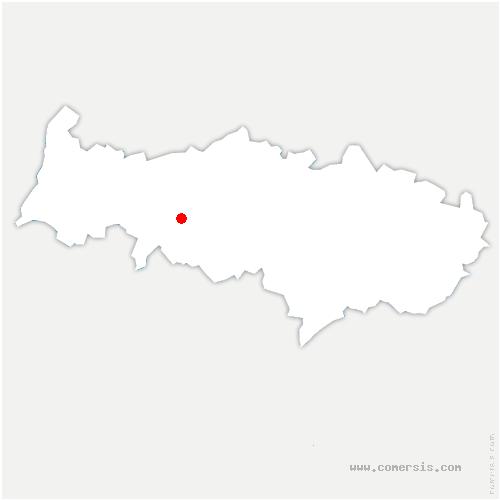 carte de localisation de Ableiges