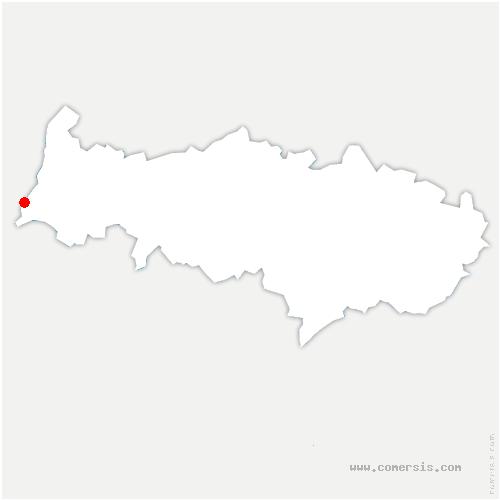 carte de localisation de Amenucourt