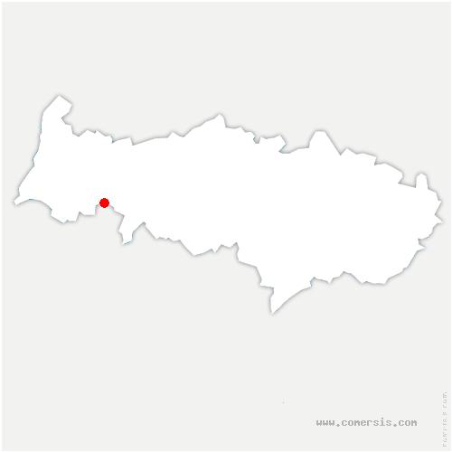 carte de localisation de Arthies