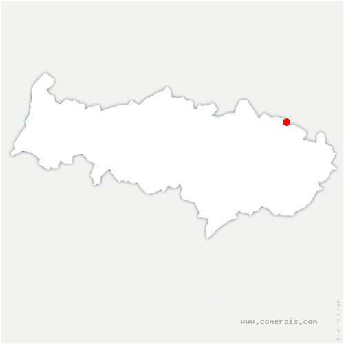 carte de localisation de Asnières-sur-Oise