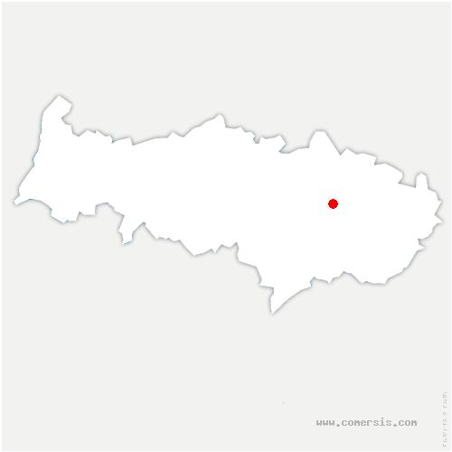 carte de localisation de Attainville