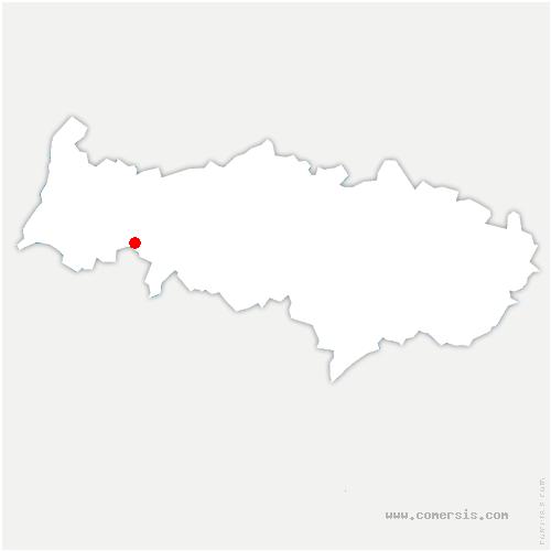 carte de localisation de Avernes