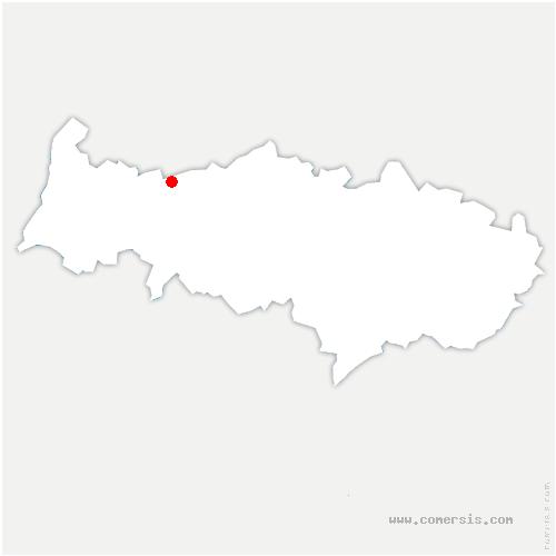 carte de localisation de Bellay-en-Vexin