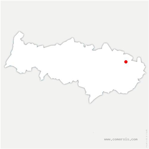 carte de localisation de Bellefontaine