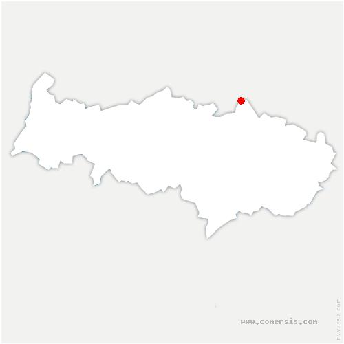 carte de localisation de Bernes-sur-Oise