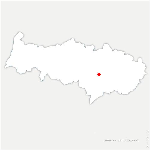 carte de localisation de Béthemont-la-Forêt