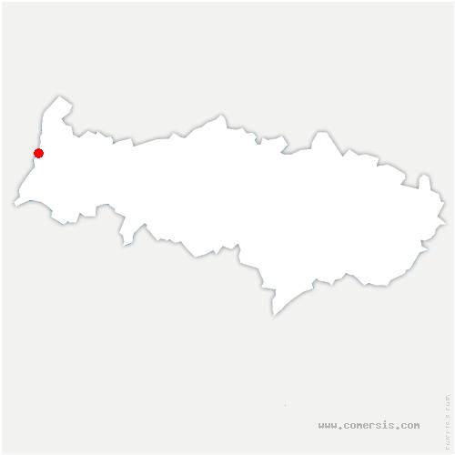 carte de localisation de Bray-et-Lû