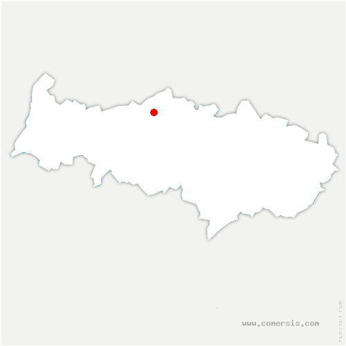 carte de localisation de Bréançon