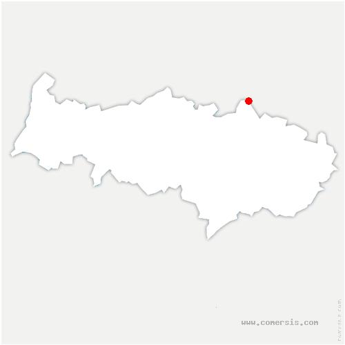 carte de localisation de Bruyères-sur-Oise