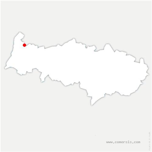 carte de localisation de Chapelle-en-Vexin