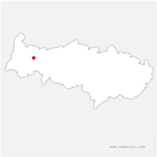 carte de localisation de Charmont