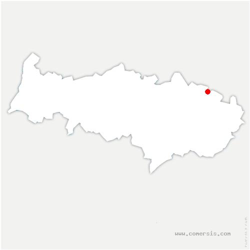 carte de localisation de Chaumontel