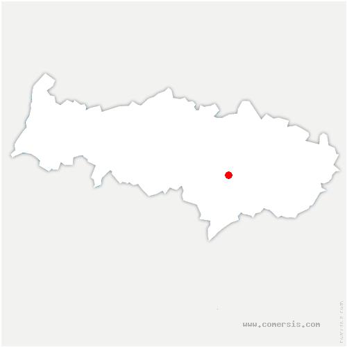 carte de localisation de Chauvry