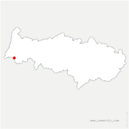 carte de localisation de Chérence