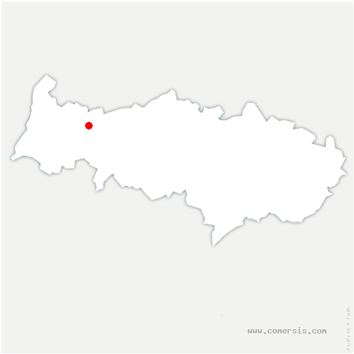 carte de localisation de Cléry-en-Vexin