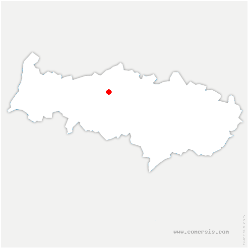 carte de localisation de Cormeilles-en-Vexin