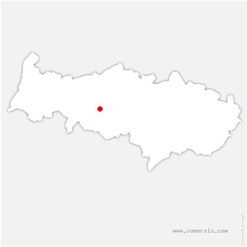 carte de localisation de Courcelles-sur-Viosne