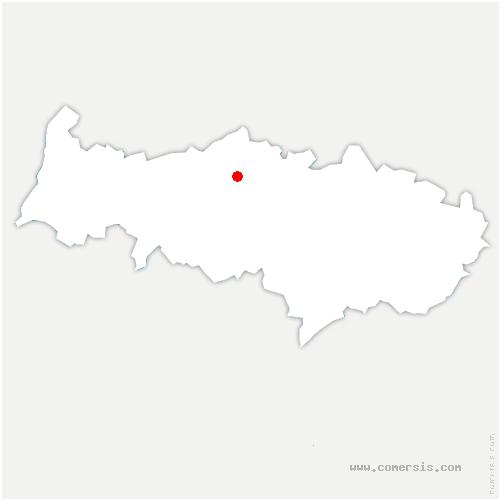 carte de localisation de Épiais-Rhus