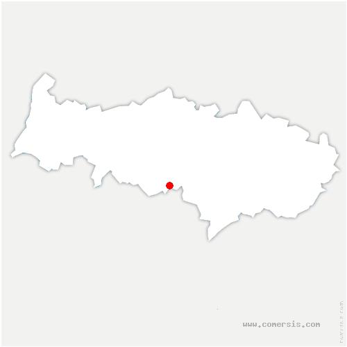 carte de localisation de Éragny