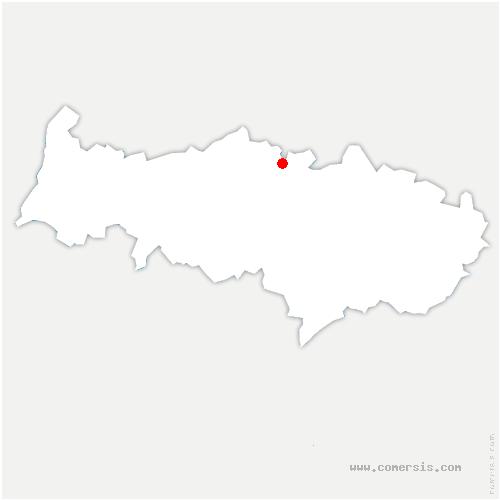 carte de localisation de Frouville